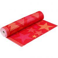 Feltro a motivi, L: 45 cm, spess. 1,5 mm, 180-200 g, arancio, rosso, 5 m/ 1 rot.
