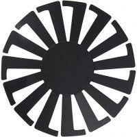 Base per certino intrecciato, H: 6 cm, diam: 8 cm, nero, 10 pz/ 1 conf.