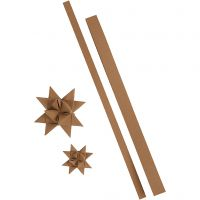 Strisce per stelle, L: 44+78 cm, L: 15+25 mm, 350 g, natural, 24 strisce/ 1 conf.