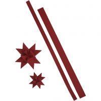 Strisce per stelle, L: 44+78 cm, L: 15+25 mm, 350 g, rosso, 24 strisce/ 1 conf.