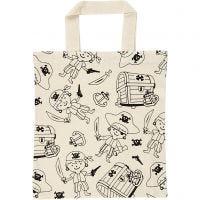 Shopping bag, pirati, misura 27,5x30 cm, 135 g, natural chiaro, 1 pz