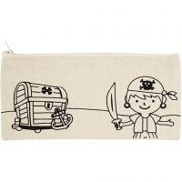 Astuccio, pirati, misura 21x9 cm, 245 g, natural chiaro, 1 pz