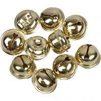 Campanellini, diam: 13+15+17 mm, oro, 12 asst./ 1 conf.