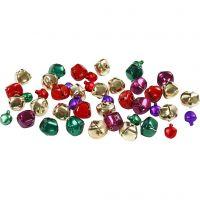 Campanellini - assortimento , diam: 10+14 mm, colori metallici, 24 asst./ 1 conf.