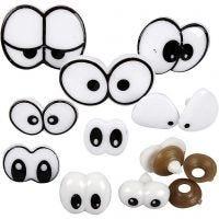 Occhi divertenti, misura 2-3 cm, 200 asst./ 1 conf.