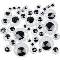 Occhi mobili, autoadesivi, diam: 4-20 mm, 1100 asst./ 1 conf.