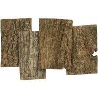 Lastre di corteccia, misura 9,5x6,5 cm, spess. 1-4 mm, 340 g/ 1 conf.