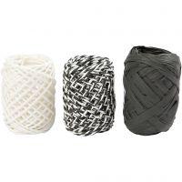 Corda di carta, armonia nero/bianco, 3x10 m/ 1 conf.
