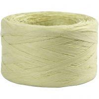 Filo di radia di carta, L: 7-8 mm, verde chiaro, 100 m/ 1 rot.