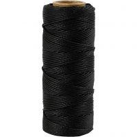 Filo di iuta, spess. 1 mm, nero, 65 m/ 1 rot.