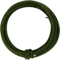 Filo di iuta, spess. 2-4 mm, verde, 3 m/ 1 conf.