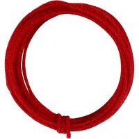 Filo di iuta, spess. 2-4 mm, rosso, 3 m/ 1 conf.