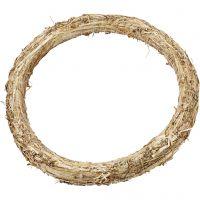 Ghirlanda di paglia, diam: 35 cm, spess. 3 cm, 1 pz