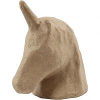 Trofeo unicorno, H: 18,5 cm, L: 10 cm, 1 pz