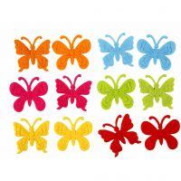 Farfalle di feltro, misura 3 cm, spess. 1,5 mm, 160 pz/ 1 conf.