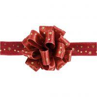 Nastro Susifix, L: 18 mm, oro, rosso, 5 m/ 1 rot.