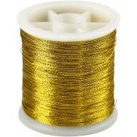 Filo per cucire, spess. 0,15 mm, oro, 100 m/ 1 rot.