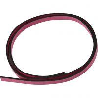 Cintura di finto cuoio, L: 10 mm, spess. 3 mm, rosa, 1 m/ 1 conf.