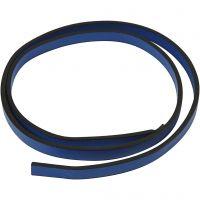 Cintura di finto cuoio, L: 10 mm, spess. 3 mm, blu, 1 m/ 1 conf.