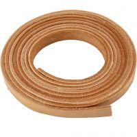 Striscia di cuoio, L: 10 mm, spess. 3 mm, natural, 2 m/ 1 conf.
