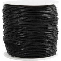 Corda di cotone, spess. 0,6 mm, nero, 100 m/ 1 conf.