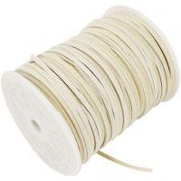 Cordino in finto camoscio, spess. 3 mm, beige, 100 m/ 1 rot.
