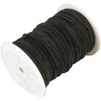 Cordino in finto camoscio, spess. 3 mm, nero, 100 m/ 1 rot.