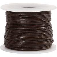 Corda di cuoio, spess. 1 mm, marrone, 50 m/ 1 rot.