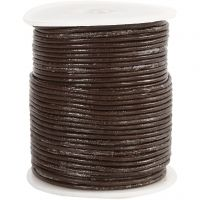Corda di cuoio, spess. 2 mm, marrone, 50 m/ 1 rot.