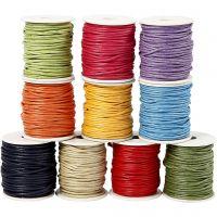 Corda di cotone, spess. 2 mm, colori forti, 10x25 m/ 1 conf.