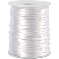 Corda di raso, spess. 2 mm, bianco, 50 m/ 1 rot.