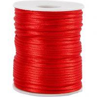 Corda di raso, spess. 2 mm, rosso, 50 m/ 1 rot.