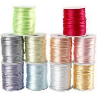Corda di raso, spess. 2 mm, colori pastello, 10x50 m/ 1 conf.