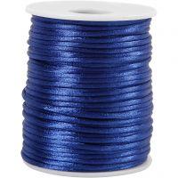 Corda di raso, spess. 2 mm, blu scuro, 50 m/ 1 rot.