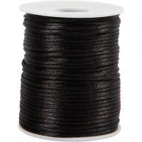 Corda di raso, spess. 2 mm, nero, 50 m/ 1 rot.