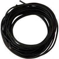 Corda di cuoio, spess. 2 mm, nero, 4 m/ 1 rot.