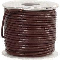 Corda di cuoio, spess. 1 mm, marrone, 10 m/ 1 rot.
