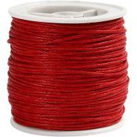 Laccio di cotone, spess. 1 mm, rosso, 40 m/ 1 rot.
