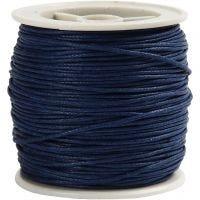 Laccio di cotone, spess. 1 mm, blu, 40 m/ 1 rot.