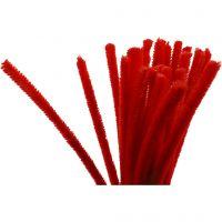 Filo di ciniglia, L: 30 cm, spess. 9 mm, rosso, 25 pz/ 1 conf.