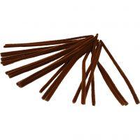 Filo di ciniglia, L: 30 cm, spess. 9 mm, marrone, 25 pz/ 1 conf.