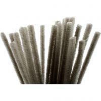 Filo di ciniglia, L: 30 cm, spess. 9 mm, grigio, 25 pz/ 1 conf.