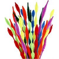 Filo di ciniglia, A onda, L: 30 cm, spess. 5-12 mm, colori asst., 28 asst./ 1 conf.