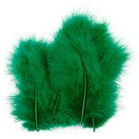 Piume, misura 5-12 cm, verde, 15 pz/ 1 conf.