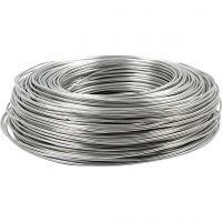 Filo di alluminio, cerchio, spess. 2 mm, argento, 100 m/ 1 rot.