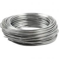 Filo di alluminio, cerchio, spess. 3 mm, argento, 29 m/ 1 rot.