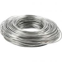 Filo di alluminio, spess. 2,5 mm, argento, 75 m/ 1 rot.
