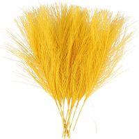 Piume artificiali, L: 15 cm, L: 8 cm, giallo, 10 pz/ 1 conf.