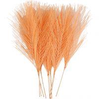Piume artificiali, L: 15 cm, L: 8 cm, arancio, 10 pz/ 1 conf.