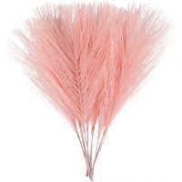 Piume artificiali, L: 15 cm, L: 8 cm, rosso chiaro, 10 pz/ 1 conf.